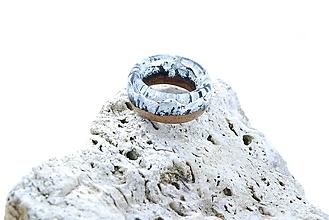 Prstene - Štíty hôr- Drevený prsteň - 11418108_