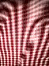 Textil - Kocočka červeno-biela š.140cm - 11417237_