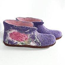 Obuv - Vlnené plstené papuče - 11417019_