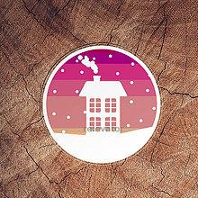 Pomôcky - Vianočná podšálka - domček - 11416884_