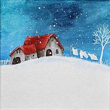 Obrazy - Biely podvečer 20x20 cm - 11416458_