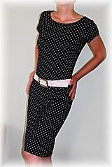 Šaty - Šaty tmavě modrý puntík vz.503 i 3/4 rukáv - 11419587_