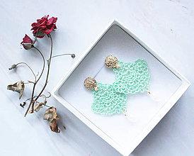 Náušnice - Náušnice s čipkou a perličkou. Staroružové - 11418229_