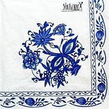 Papier - S1460 - Servítky - folklórny, cibulák, cibuľový, ľudový - 11419393_