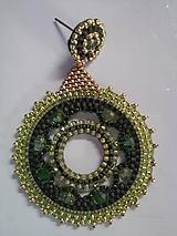 Náušnice - zelený kruh - 11419810_