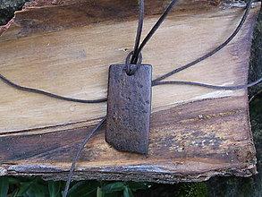 Náhrdelníky - prívesok  z kôry orecha 2 - 11419221_