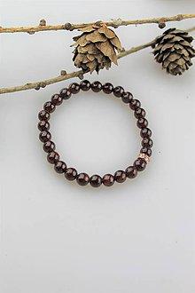 Náramky - Granát korálky náramok - 11419485_