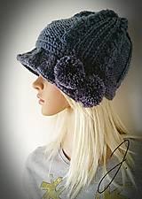 Čiapky - Čiapko / klobúčik v šedej farbe ;) - 11418679_
