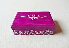 Krabičky - Drevená šperkovnička - 11418684_