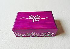 Krabičky - Drevená šperkovnička - 11418691_