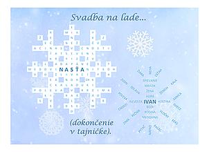 Grafika - Zimná svadobná osemsmerovka - 11418850_