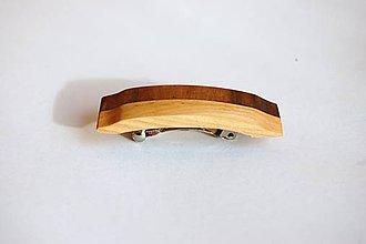 Ozdoby do vlasov - Drevená spona do vlasov - Orechovo - lipová mini...:o) - 11419559_