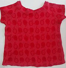 Detské oblečenie - Tričko bambus jabĺčko - 11418991_