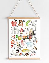 Detské doplnky - Art Print - Nemecká abeceda - 11418178_