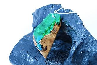 Náhrdelníky - Divoká rieka- Drevený náhrdelník - 11420121_
