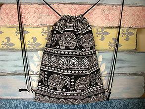 Batohy - Ruksak, batůžek, vak - Etno sloni - 11418827_