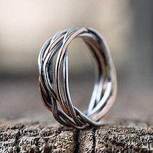 Prstene - Prepletené prúty - 11421405_