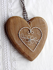 Dekorácie - srdce... šípkového kríčka... (Biela) - 11421235_