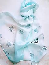 Šály - Šál hodvábny - ice love - 11420799_