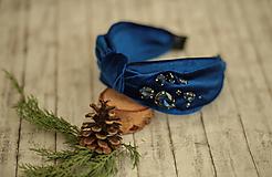 Ozdoby do vlasov - Luxusná vystužená  zamatová čelenka - 11420994_
