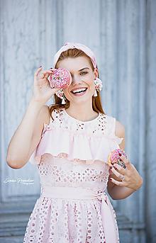 Ozdoby do vlasov - Luxusná vystužená  zamatová čelenka (Bledo ružová bez krištáľov) - 11421049_