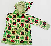 Detské oblečenie - Mikina s kapucňou lienky velúr - 11420532_