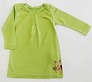 Detské oblečenie - VÝPREDAJ Bambusová tunika s kresbou sovičky - 11420924_