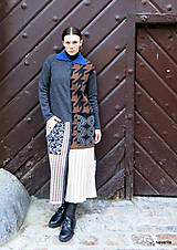 Kabáty - VITKA-pletený kabát-vícebarevný - 11420724_