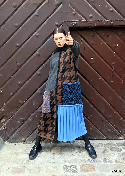 VITKA-pletený kabát-vícebarevný