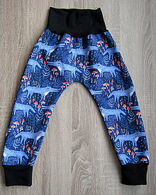 Detské oblečenie - Vlci-softshell nohavice, veľkosť na výber - 11420925_