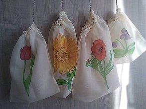 Úžitkový textil - Sada ekologických vreciek na ovocie a zeleninu *Floral* - 11420297_