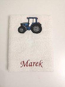 Úžitkový textil - Traktorík modrý - 11421505_