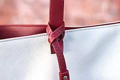 Veľké tašky - Maxi bílo-vínová - 11421723_