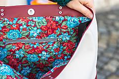 Veľké tašky - Maxi bílo-vínová - 11421727_
