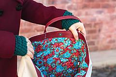 Veľké tašky - Maxi bílo-vínová - 11421728_