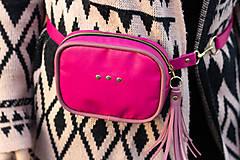 Kabelky - Mini kabelka na pas (ledvinka) v růžové - 11421779_