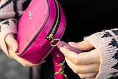 Kabelky - Mini kabelka na pas (ledvinka) v růžové - 11421780_