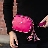 Kabelky - Mini kabelka na pas (ledvinka) v růžové - 11421781_