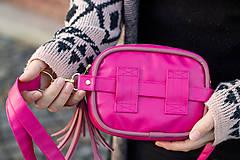 Kabelky - Mini kabelka na pas (ledvinka) v růžové - 11421782_