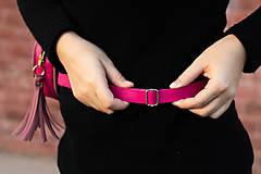 Kabelky - Mini kabelka na pas (ledvinka) v růžové - 11421783_