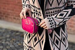 Kabelky - Mini kabelka na pas (ledvinka) v růžové - 11421784_