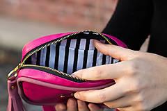 Kabelky - Mini kabelka na pas (ledvinka) v růžové - 11421786_