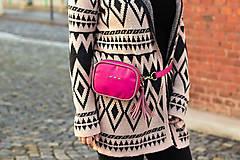 Kabelky - Mini kabelka na pas (ledvinka) v růžové - 11421787_