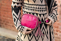 Kabelky - Mini kabelka na pas (ledvinka) v růžové - 11421788_