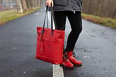 Veľké tašky - Maxi červená s černým vzorem - 11422301_