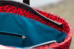 Veľké tašky - Maxi červená s černým vzorem - 11422305_