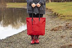 Veľké tašky - Maxi červená s černým vzorem - 11422306_