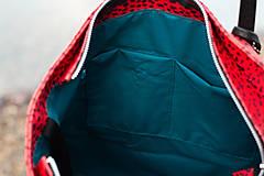Veľké tašky - Maxi červená s černým vzorem - 11422307_