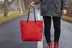 Veľké tašky - Maxi červená s černým vzorem - 11422308_