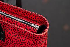 Veľké tašky - Maxi červená s černým vzorem - 11422310_